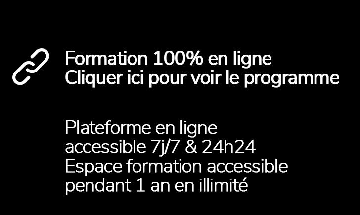 formation 100% en ligne plateforme en ligne programme accessibilité 7j/7 et 24h24